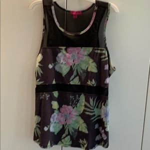 Multi-colored floral workout tank